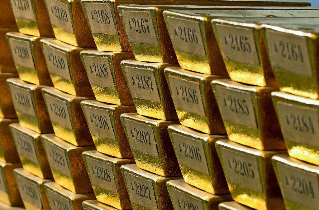 Französische Diebe haben in Lyon etwa 60 Kilogramm Gold erbeutet. Foto: Bundesbank