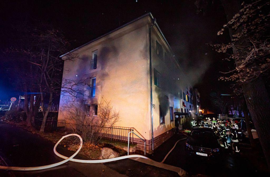 Ein Gebäude in Untertürkheim war in Brand geraten. Foto: 7aktuell.de/Alexander Hald