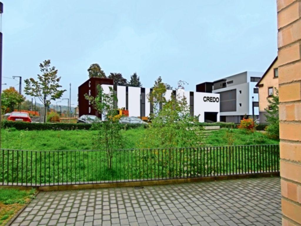 So soll das Gemeindezentrum vom Rathaus aus aussehen. Foto: Eppler und Bühler