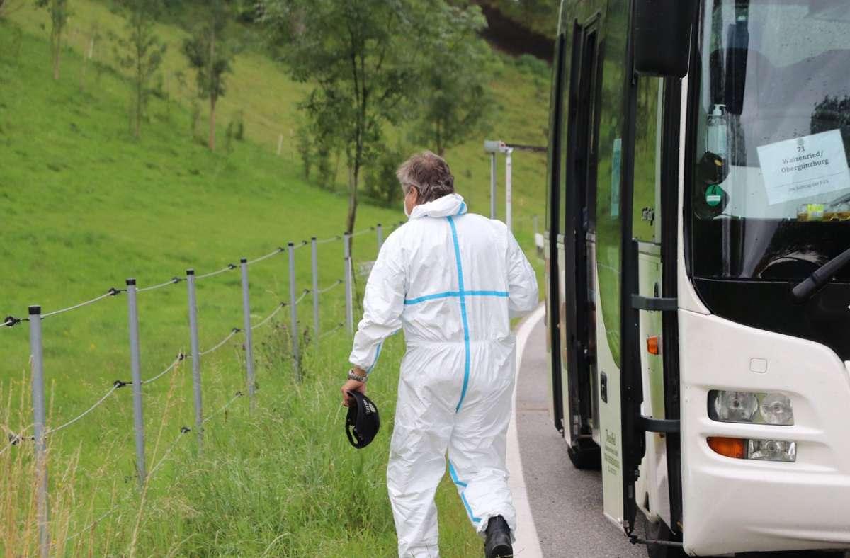 Der Busfahrer und die anderen Fahrgäste wurden nach der Tat psychologisch betreut. Foto: dpa/Benjamin Liss