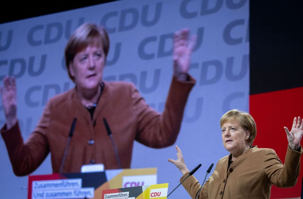 Kurz vor dem Abgang von Angela Merkel verbessert die Union ihre Umfragwerte deutlich. Foto: dpa