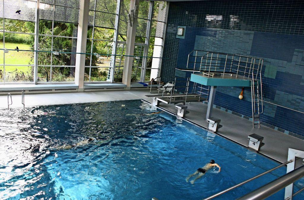 Bis die Temperaturen draußen wieder steigen, müssen die Schwimmer im Leinfeldener Gartenhallenbad auf einen Warmbadetag verzichten. Foto: Archiv N.  Kanter