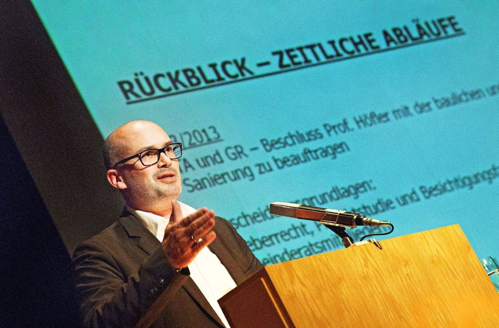 Frank Dehmer hat die Bürger unlängst einen Abend lang informiert Foto: /Horst Rudel