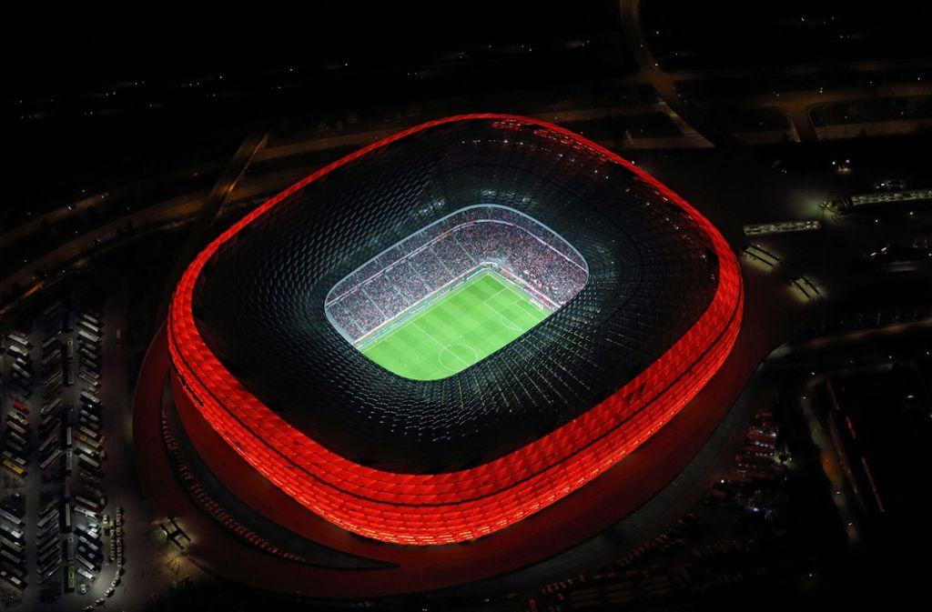 In der Allianz-Arena könnte das Finale der Königsklasse 2021 stattfinden. Foto: dpa
