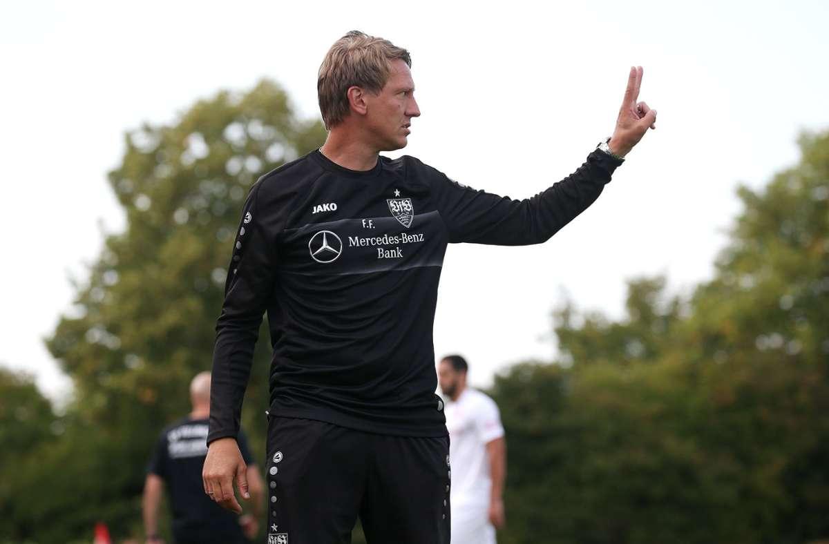 Frank Fahrenhorst und der VfB Stuttgart II wollen sich in der Regionalliga Südwest beweisen. Foto: Pressefoto Baumann/Alexander Keppler