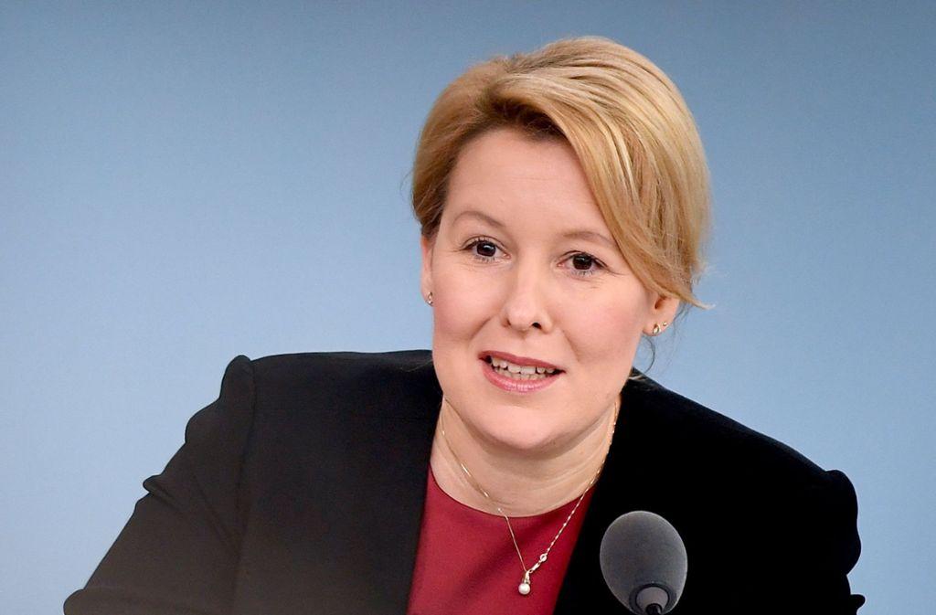 Familienministerin Franziska Giffey (SPD) will das Unterhaltsrecht ändern. Foto: ZB