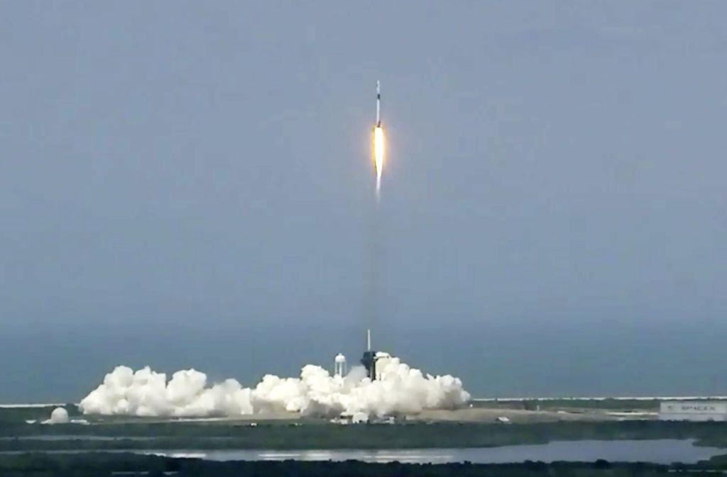 Die Rakete ist erfolgreich gestartet. Foto: AP