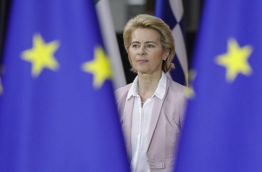 Unsicherheit: Ursula von der Leyen weiß noch immer nicht, ob sie am 1. Dezember die Amtsgeschäfte übernehmen kann. Foto: dpa/Thierry Roge