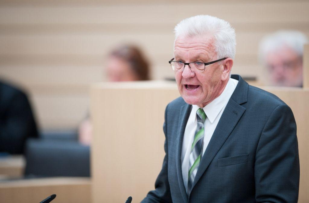 In einer Regierungserklärung hat der baden-württembergische Ministerpräsident Winfried Kretschmann die Bedeutung von Europa für den Südwesten unterstrichen – vor allem für die Wirtschaft. Foto: dpa