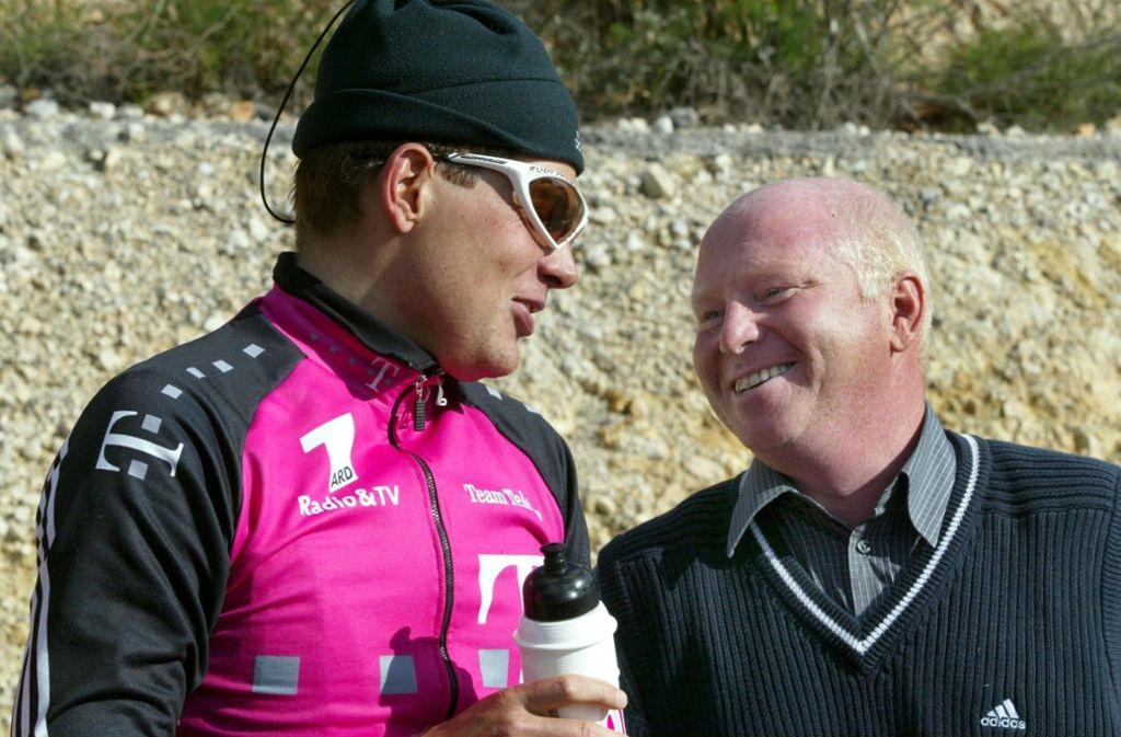 Rudy Pevenage (rechts) war lange Jahre Mentor von Jan Ullrich. Foto: dpa/dpaweb/Gero Breloer