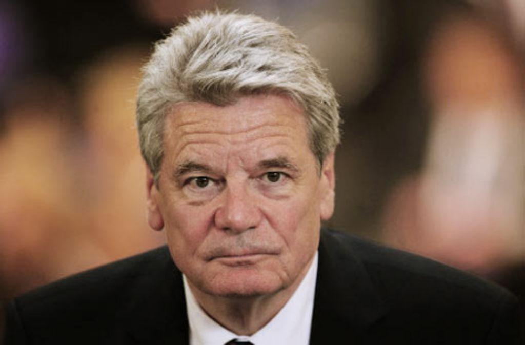 Mit Joachim Gauck bezog ein weiterer Prominenter Stellung. Foto: dpa
