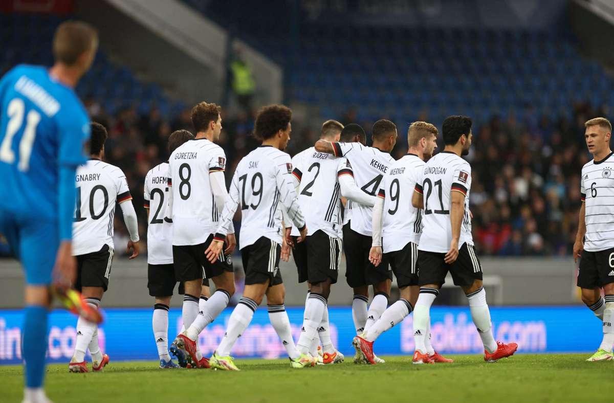 Die DFB-Elf konnte Island mit 4:0 besiegen. Foto: dpa/Christian Charisius