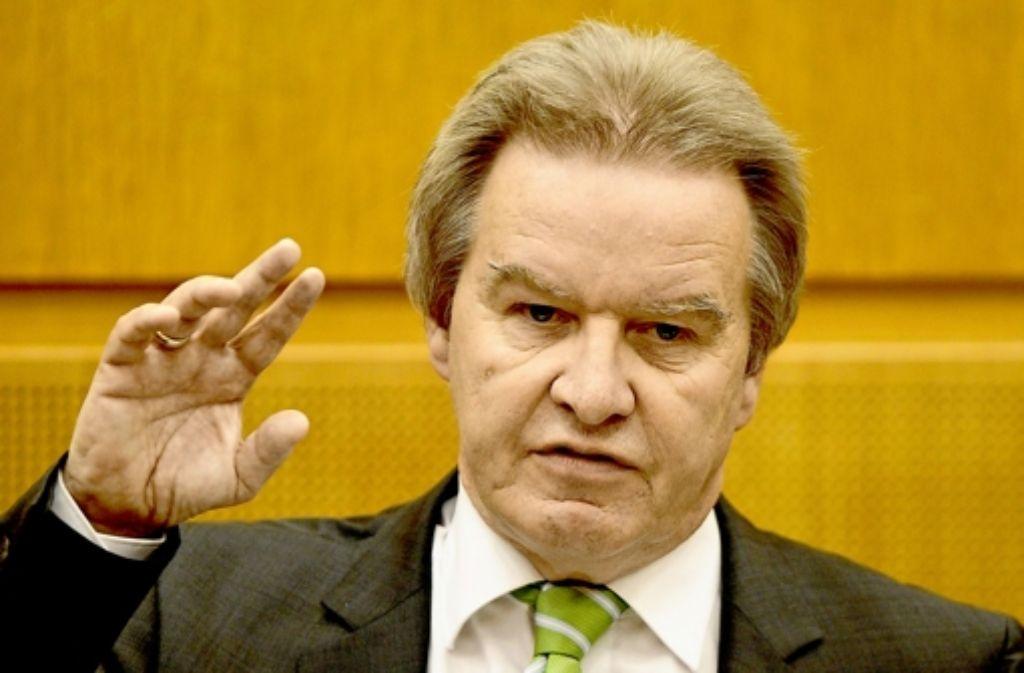 Umweltminister Franz Untersteller (Grüne) ist für den Gesetzentwurf verantwortlich. Foto: dpa