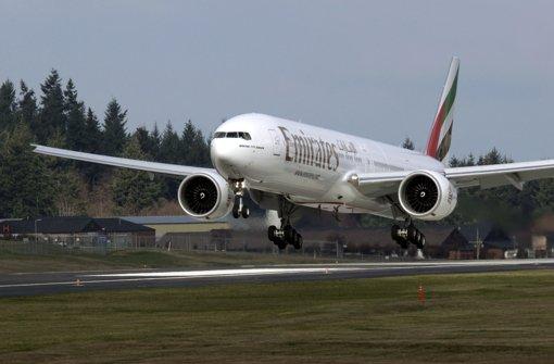 Arabische Fluggesellschaften wie Emirates setzen die europäische Konkurrenz unter Druck. Foto: AP
