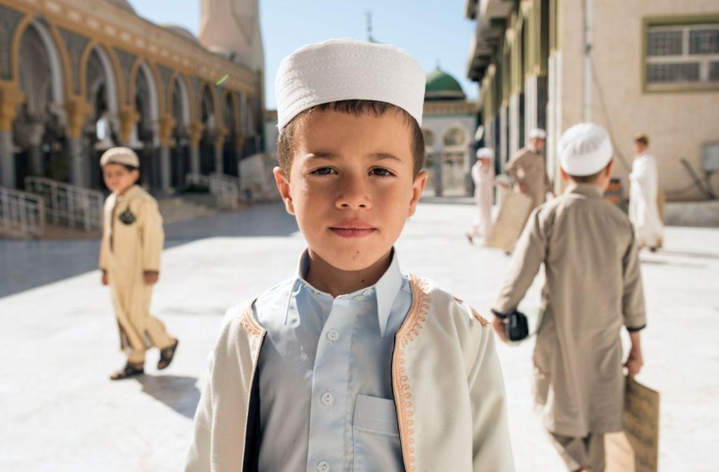 Ein Junge in einer Koranschule nahe der libyschen Hauptstadt Tripolis. Foto: AFP