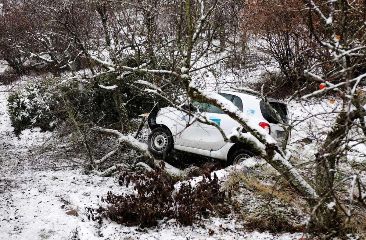 In Stuttgart-Hedelfingen ereignete sich ein Unfall. Foto: 7aktuell.de/Kevin Lermer