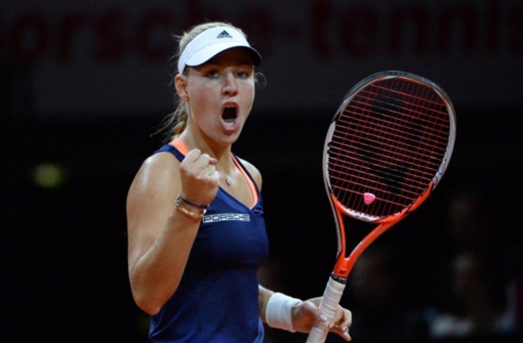 Angelique Kerber hat den Porsche Tennis Grand Prix gewonnen. Im Finale setzte sich die Kielerin gegen ... Foto: dpa