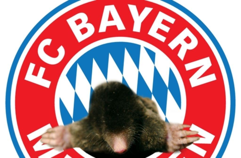 Der FC Bayern München war schon immer der größte Maulwurfshaufen des Fußball – dagegen helfen weder Spaten noch Strafen. Foto: dpaMontage: Schlösser