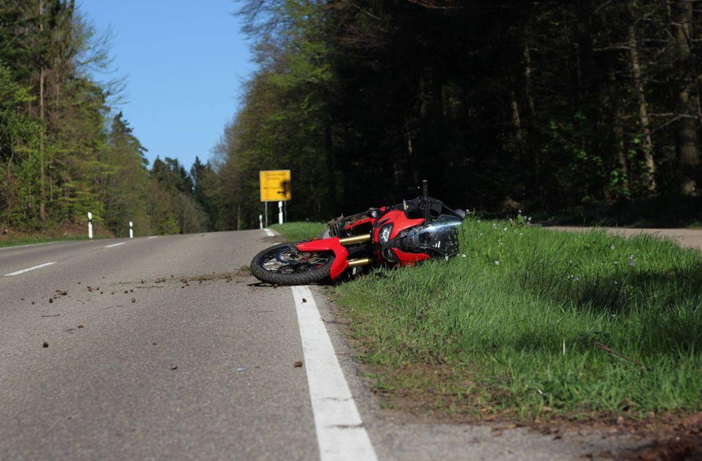 Schwerer Motorradunfall bei Althütte Foto: 7aktuell.de/Mehmet Okatan