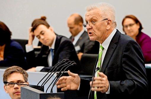 Regierungschef Winfried Kretschmann (Grüne) im Landtag. Foto: dpa