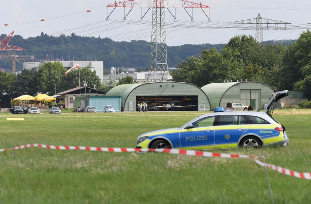 Die Ermittlungen nach dem Absturz in Bruchsal dauern an. Foto: dpa