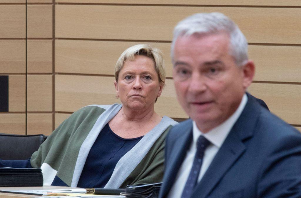 CDU-Landeschef Thomas Strobl spürte schon länger den heißen Atem von Kultusministerin Susanne Eisenmann im Nacken. Foto: dpa