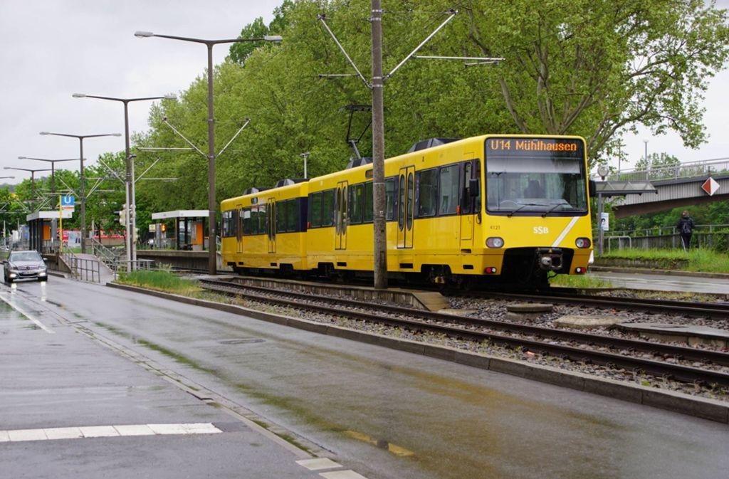 Die Stadtbahn-Fahrerin konnte nicht mehr rechtzeitig stoppen. Foto: 7aktuell.de/Andreas Werner