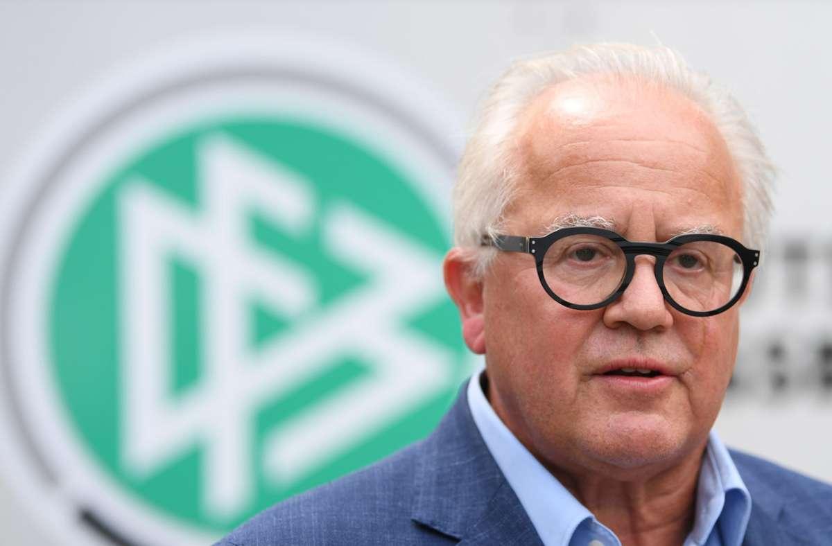 Ein Jahr lang im Amt als DFB-Präsident: Fritz Keller Foto: dpa/Arne Dedert