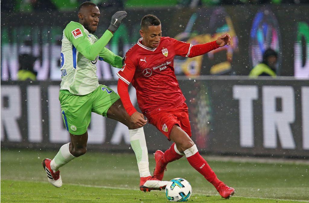 Im letzten Aufeinandertreffen in der Rückrunde der Vorsaison, es war das erste Spiel unter Tayfun Korkut, trennten sich die Mannschaften 1:1 in Wolfsburg (Symbolbild). Foto: Pressefoto Baumann