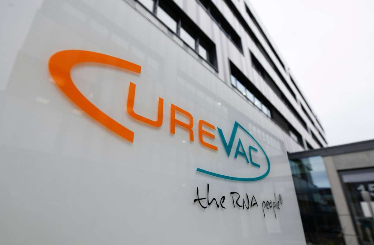 Der Tübinger Impfstoff-Herstellers Curevac. (Symbolbild) Foto: AFP/THOMAS KIENZLE