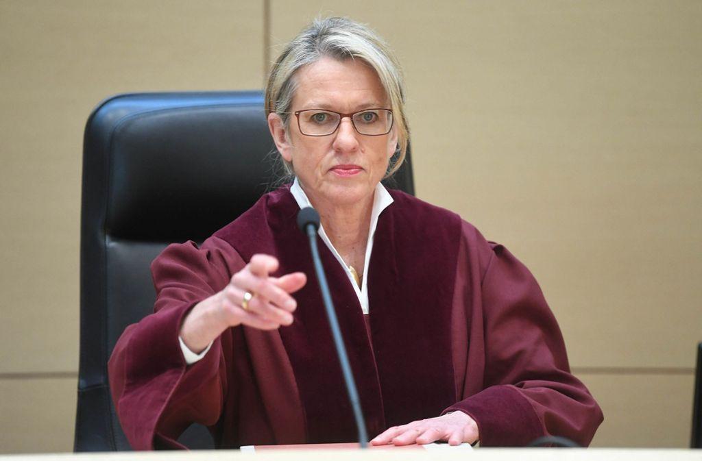 Beate Sost-Scheible, die Vorsitzende des vierten Strafsenats, verkündet das Urteil. Foto: dpa
