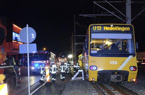 Bahn entgleist nahe dem Pragsattel