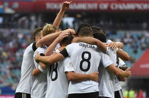 Die DFB-Elf hat Australien beim Confed-Cup mit 3:2 besiegt. Foto: AFP