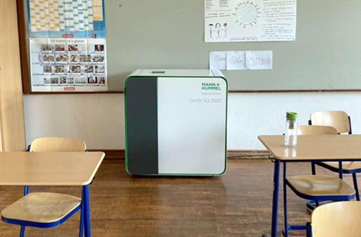 Luftfilter gibt es bisher meist nur in schlecht belüftbare Räumen. Foto: dpa/Henning Otte