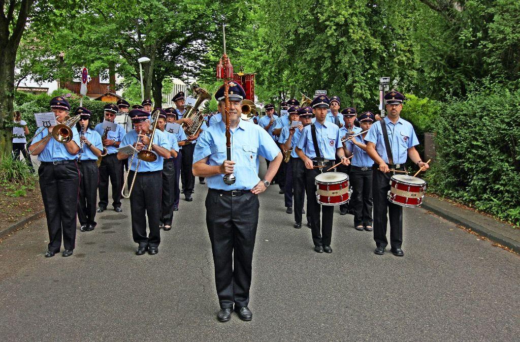 Der Musikzug der Freiwilligen Feuerwehr in Stuttgart-Wangen hat im vergangenen Jahr 23 Auftritte bestritten. Foto: privat