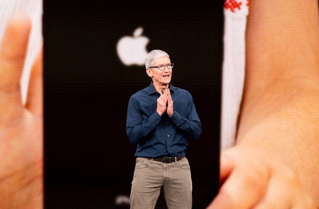 Apple-Chef Tim Cook outet sich als großer Fan der Datenschutzgrundverordnung. Foto: AFP