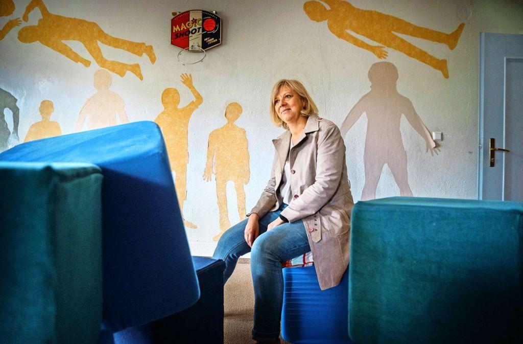 Dagmar Braun im Toberaum der Villa 103, einer Tagesgruppe in Schorndorf Foto: /Gottfried Stoppel