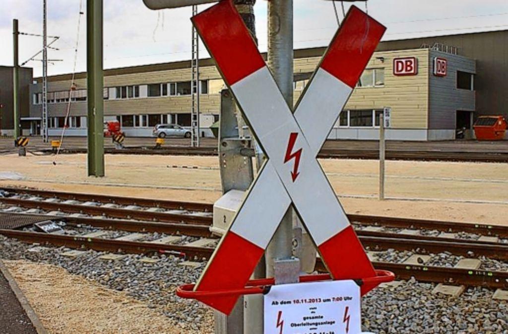 Achtung Hochspannung – das moderne Bahnwerk in Ulm Foto: Alexander Schatz