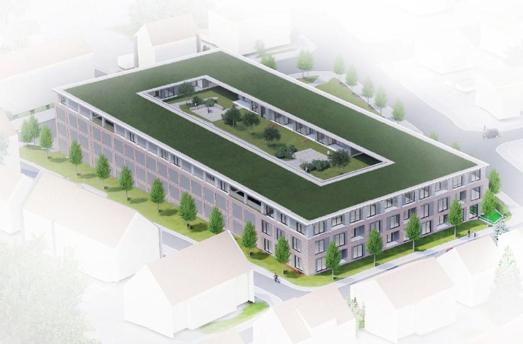 So sieht der neue Supermarkt mit 25 Wohnungen in der Ludwigsburger Oststadt aus, ein Modell auch für andere Kommunen? Foto: Stadt Ludwigsburg