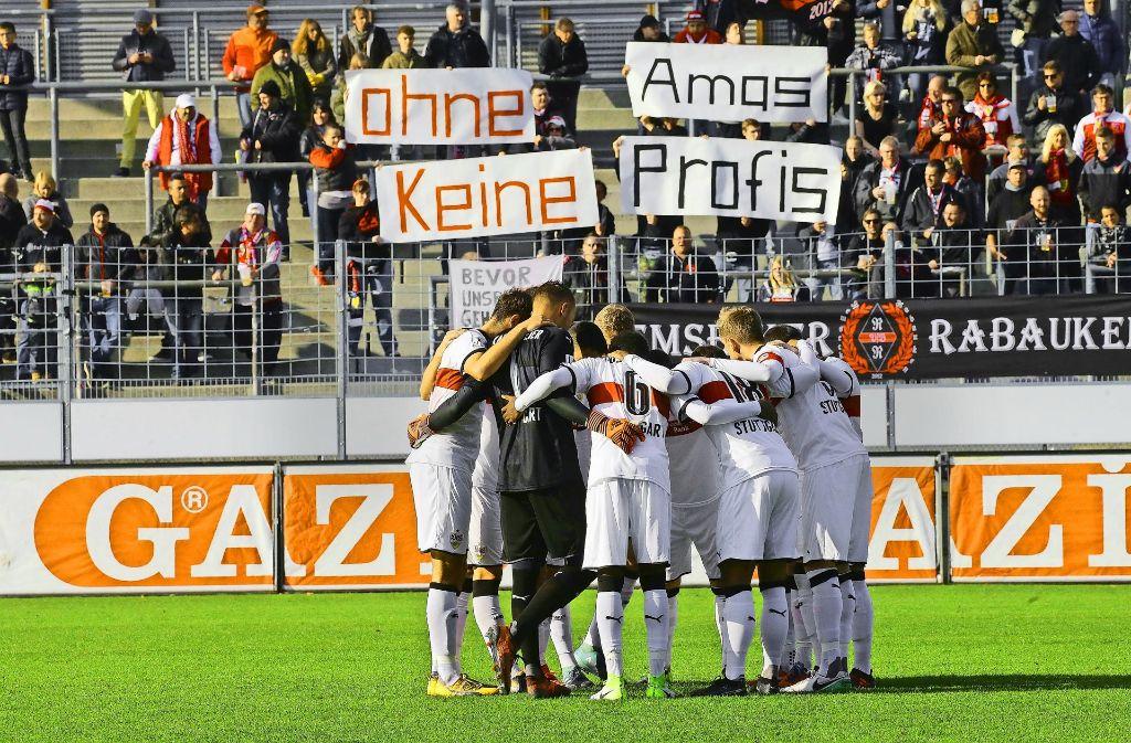 Unter den Fans der zweiten VfB-Mannschaft regt sich Protest. Foto: Baumann
