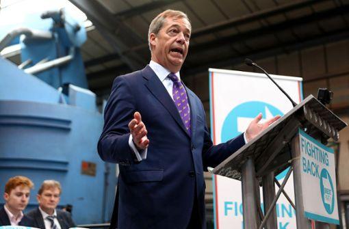 Brexit-Partei könnte auf 29 Sitze kommen