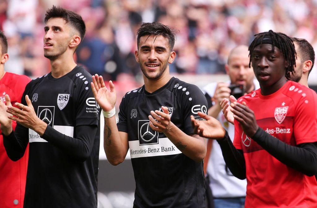 Matchwinner Nicolas González (Mitte) hatte allen Grund zur Freude. Foto: Pressefoto Baumann