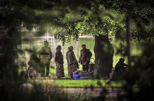 Zeltlager im Park wird aufgelöst