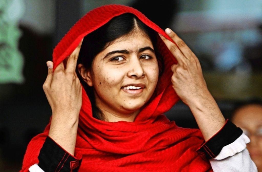 Malala Yousafzai (17) aus Pakistan ist die jüngste Friedensnobelpreisträgerin. Foto: dpa