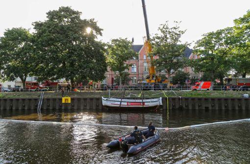 Ausflugsboot auf der Hunte gesunken