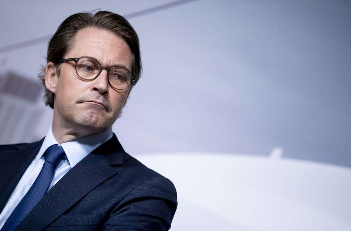 Schwere Vorwürfe gegen Andreas Scheuer bei der Aufklärung des Maut-Debakels. Foto: dpa/Christoph Soeder
