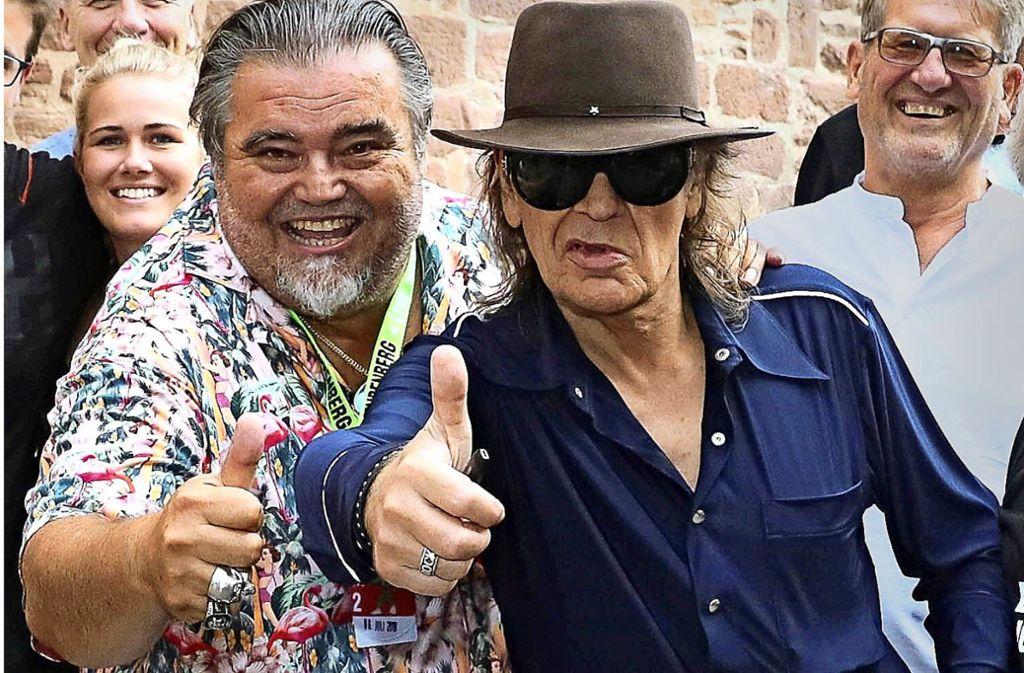 Horst Thome und Udo Lindenberg kennen sich seit etwa zehn Jahren. Foto: Thome