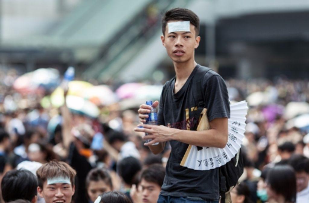 Die Menschen in Hongkong gehen aus Protest gegen China auf die Straße. Foto: AFP