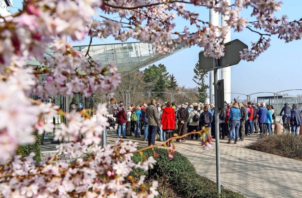 Bei schönstem Frühlingswetter machen sich die Wanderer auf den Weg. Foto: factum/Bach