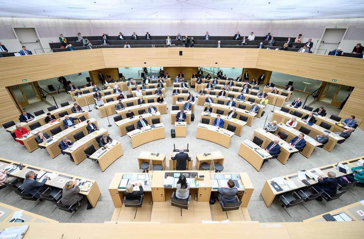2016 war der zweite Vizeposten im Landtag gestrichen worden. (Archivbild) Foto: dpa/Sebastian Gollnow
